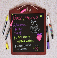 Wholesale CUPCAKE CHALKBOARD FLUORESCENT PEN MESSAGE BOARD MEMO BLACK BOARD MAGNETIC KITCHEN SHOPPING BOARD