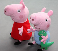 Wholesale peppa pig amp george pig pink cartoon stuffed plush styles quot amp cute kids toddler toys