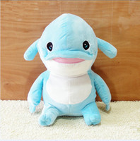 Wholesale Cute dolphin mumuhug children toys plush doll pillow presents birthday gifts inch