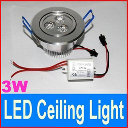 High quality LED Ceiling Lights 120 Angle 3W Downlight Spotlights 85-265V Interior decoration Led Recessed Downlights