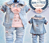 silk clothes - Hot girls autumn outfit han edition children s clothes ironed ablazely bud silk cowboy outfit