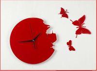 New Butterfly Clock Decor Wall Clock Unique DIY New 40pcs Fr...