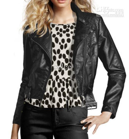 2012 New Women Jacket Ladies Coat Short Jacket Leather Jacket Color Black/Reddish Brown E0281 From Cclee, $50.58 | Dhgate.Com