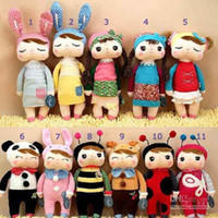 Wholesale Angela Plush Doll Metoo Stuffed Animals inch Rabbit Dolls Toys with Boxes Kids Christmas Gifts