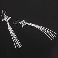 Cheap Silver popular earrings Best Women's Party vintage jewelry