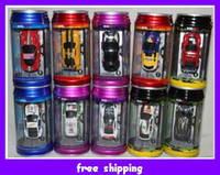 Wholesale New Cute Mini RC car Micro Racing Remote Control Cars Toy Sports Charging Cola Coke Cans Packaged