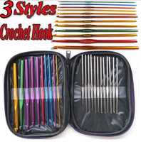 Wholesale New Arrivals Style Multicolor Aluminum Crochet Hooks Knit Knitting Needles Weave Craft Yarn
