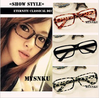 Wholesale For men and women fashion frame DJ bookworm skater courtesy glasses no lens hot