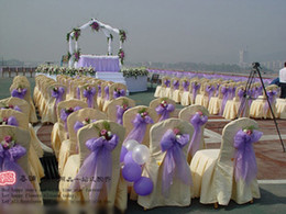 Noble Wedding Ornaments Decoration Yarn Purple for Chair Back Hall House Dark Light Purple 10M Lot