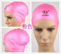 Wholesale Waterproof Silica Swimming Cap Men And Women Long hair Ear Protection Equipment