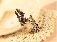 Women Rings Leaves Ring Restore Ancient Ways Coppery 24pcs L...