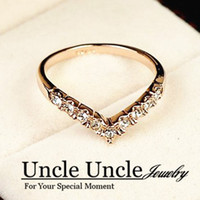 Wholesale 18K Real Gold Plated Austrian Crystal Studded Classic Heart Design Lady Diamond Ring