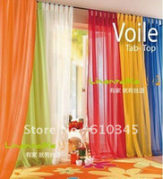 Wholesale Voile window curtain with hanging loop kind of color to choose