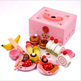 Wholesale Wooden House Of Games toy for girls child s toy strawberry cake group play house toys