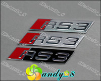 Wholesale RS RS1 RS3 RS4 RS5 RS6 D Aluminium Alloy x20MM Car Bagdes Emblem Car Emblems Badge Sticker New