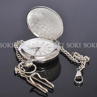 Wholesale New Modern Classic Silver Plated Mens Analog Quartz Pocket GIFT Watch W004