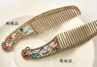 Wholesale Vintage Style Bronze Enamel Butterfly Dragonfly Rhinestone Flower Tuck Comb mix style