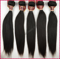 Wholesale 10pcs quot quot virgin Indian remy hair extension double weft straight weave natural color
