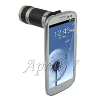 Wholesale 8X Zoom Telescope Camera Lens case cover for Samsung Galaxy S3 SIII GT i9300 CA152061