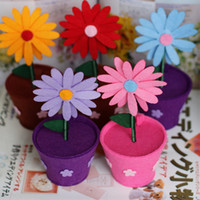 New 5color sunflower flowerpot non- woven candy box flower st...