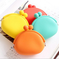 Cheap silicone purse wallet coin holder coin case colored key holder case soft storage bag christmas gift