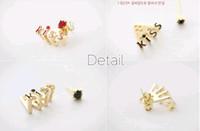 Women Earring Golden Diamond Stud Earrings Restore Ancient W...