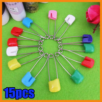 Wholesale 15x Safety Hold Locking Baby Dress Cloth Nappy Diaper Shower Craft Pins Game Kit