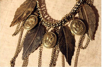 Chain Necklace Punk Leaves Head Statue Restore Ancient Ways ...