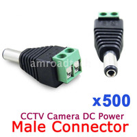 Wholesale 500pcs x mm CCTV Camera DC Power Plug Male Jack Connector Adapter Adaptor Converter DHL EMS