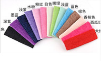 Wholesale Colorful Lady Headband for Yoga amp Sports Soft Sweety Headband Cotton Hair Bands from topelec