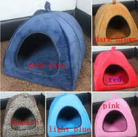 Houses yurts - 2012 new Pet dog kennel cat warm cotton nest dog tents house multi color collapsible yurts