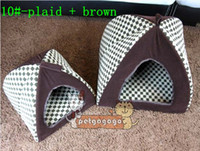 Wholesale Pet dog kennel cat warm cotton nest dog tents house multi color yurts size M L