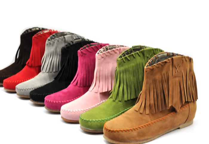Comfy Women Girls Fashion Fringe Tassel Styles Boots Flat Ankle ...