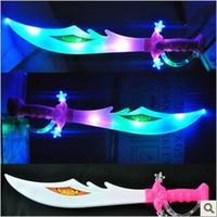 Wholesale Glow Stick LED Toys Music Sword Luminous Broadsword Toy Weapons Sword Children Luminous Toys