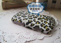 Wholesale Luxury Leopard Leather Rubber Hard Back Case Cover for Blackbarry Bold