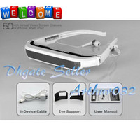 Wholesale High Recommend Inch Plug And Play Virtual Video Screen Glasses for Phone G G iPad2 iPad3 iP0d