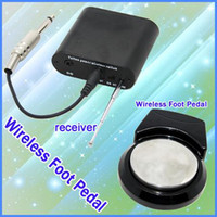 aluminum receiver - New Aluminum Wireless Foot Pedal Footswitch with receiver New high teck wireless foot pedal kit