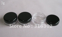 Wholesale 3g high quality cream jar cosmetic container plastic bottle sample jar cosmetic packaging