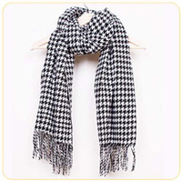 Wholesale HOT Houndstooth Checkered Thick Long Soft shawl Unisex Classic Scarf Wrap