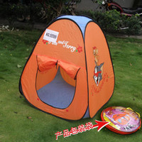 Tents Animes & Cartoons Cloth Wholesale-Lovely Cartoon Play Tent For Kids, Portable Folding Tent 55589,play house,4PCS Lot