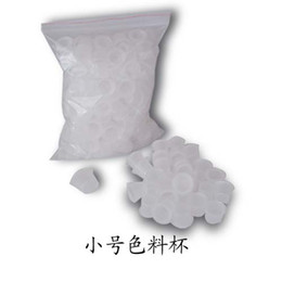 Wholesale 2012 low price small size plastic new ink cups caps for tattoo bag