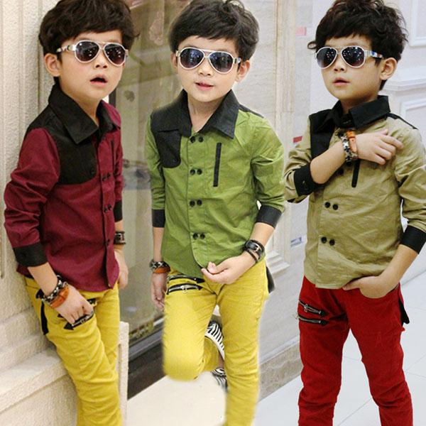 Cheap Designer Kids Clothes Online Baby Long Sleeve Shirt Boy