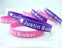 Celtic belieber bracelet - 150pcs Hot Sale Justin B Fans Belieber Boys Girls Fashion Silicone Wristband Pink Purple Bracelets