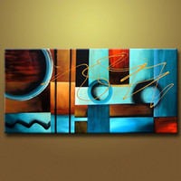 ad frames - art Large Oil Painting On Canvas an Abstract Modern Art Wall Decor no frame AD