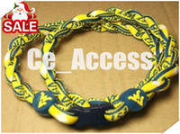 Wholesale 3 ropes necklace West Virginia Mountaineers titanium necklace tornado necklace