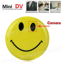 Wholesale Brooch Smile Face Pin Spy Camera Mini DVR Support Voice Record and TV out