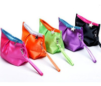 Wholesale HOT Fashion Cosmetic Make Up Bags Handbags Change Purse for Women Lipstick Nylon Colors