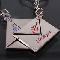 Wholesale 80PCS PR Alloy lovers keychain Valentine gift key chains