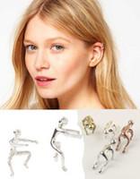 Wholesale hot sale pack of two running man ear cuff women cheap earring