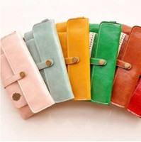 Wholesale New sweet lace vintage style pu leather wallet with a coin bag lady purses